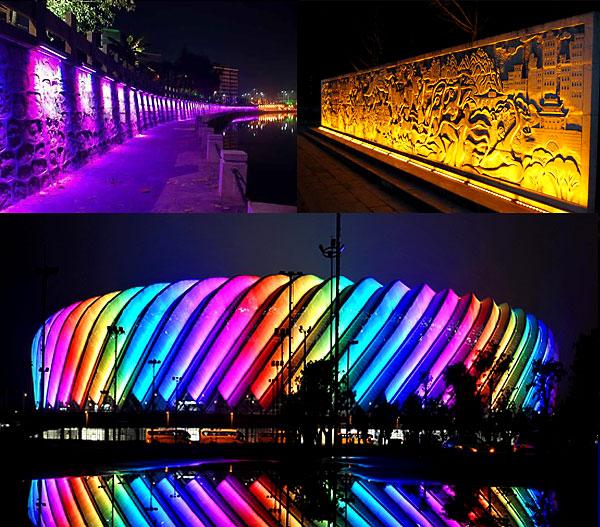 led工矿灯 led日光灯 大功率led泛光灯     可广泛用于摩天大厦,桥梁